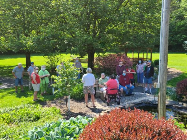 Residents attending remembrance tree dedication